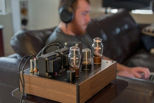 Man Using Tube Amp